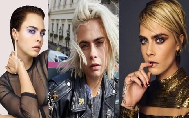 Cara Delevingne é uma das famosas que mudaram o visual em 2018