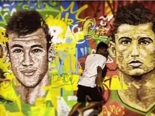 Bela imagem do Brasil na Copa do Mundo, com Neymar e CR7, foi destaque no perfil da Fifa