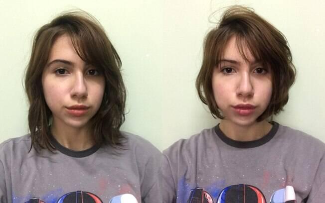 Antes e depois do meu corte da quarentena