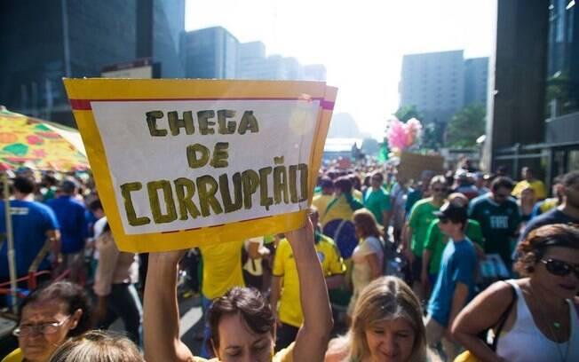 Em São Paulo, manifestantes pediam saída de Dilma Rousseff do poder e fim da corrupção (12/04/2015)
