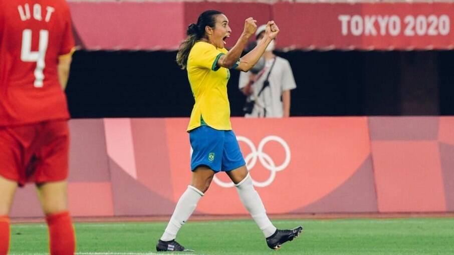 Marta faz história nas Olimpíadas