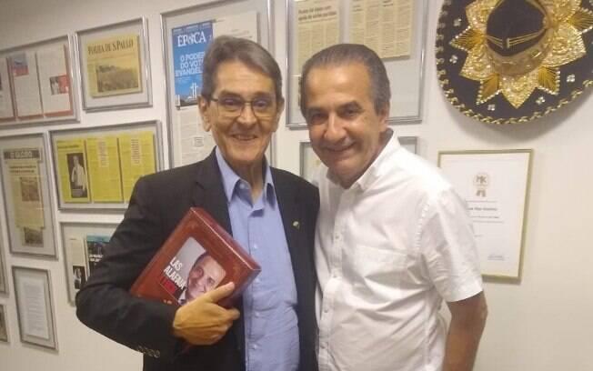 Roberto Jefferson (esquerda) e Malafaia (direita) farão live sobre família cristã nas eleições de 2020