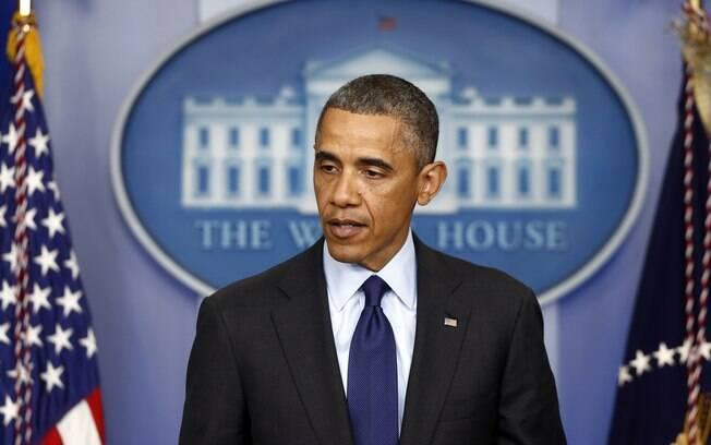 Com rosto abatido, presidente dos EUA, Barack Obama, faz pronunciamento após prisão de suspeito que estava foragido em Boston