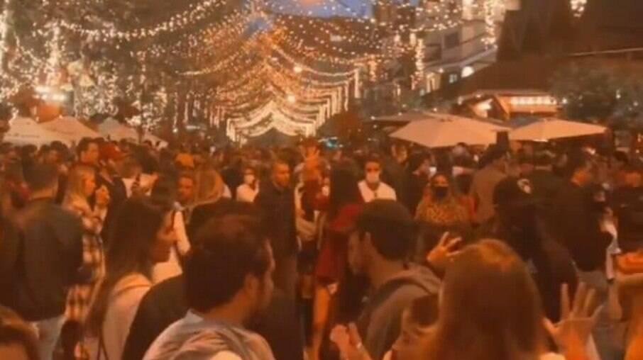 Grandes aglomerações foram registradas em Campos do Jordão no primeiro dia do feriado de Corpus Christi