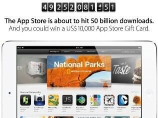 Site da Apple mostra contador de downloads de aplicativos por meio da App Store