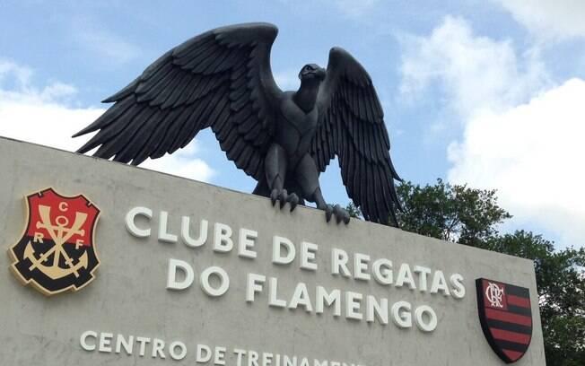 Entrada do Ninho do Urubu, o CT do Flamengo no Rio de Janeiro