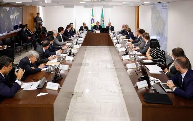 Bolsonaro comandou a segunda reunião ministerial