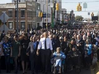 Obama em Selma: 'marcha contra racismo não terminou'