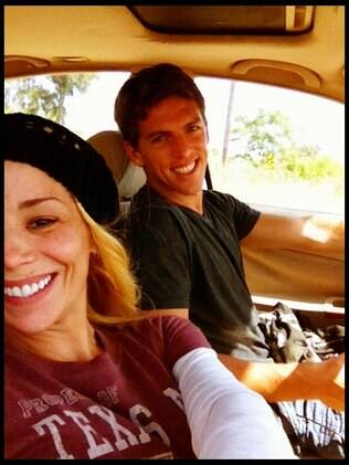 Danielle Winits e Amaury Nunes: primeiro mês de namoro