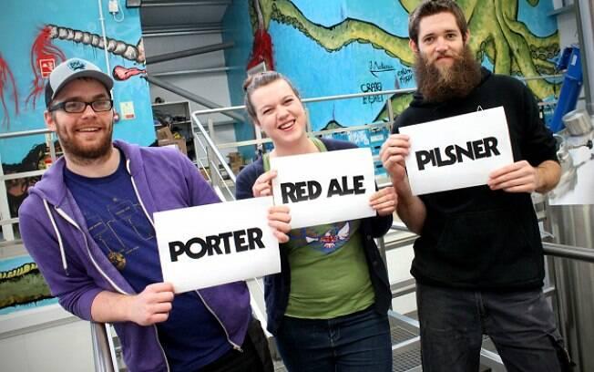 Votação de hoje é para definir o estilo da nova BrewDog: Pilsner, Red Ale ou Porter
