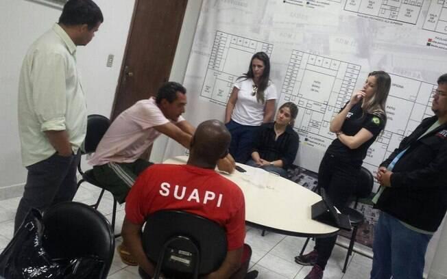 Acareação entre Matuzalém e Pedrão frente a agentes da Polícia Civil, na quinta-feira (20)