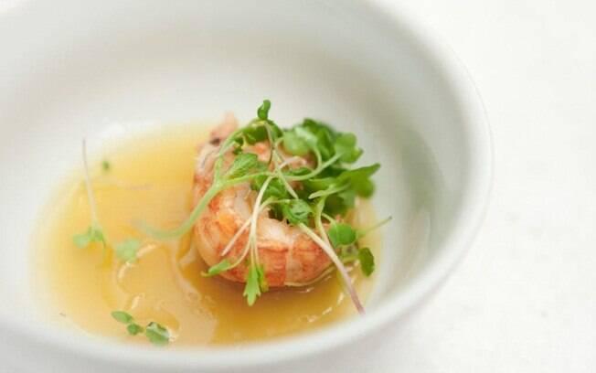 Foto da receita Gelatina quente de lagostim pronta.