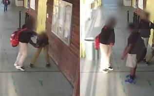 Câmeras flagram ato de bullying que deixou menino com dano cerebral; veja vídeo