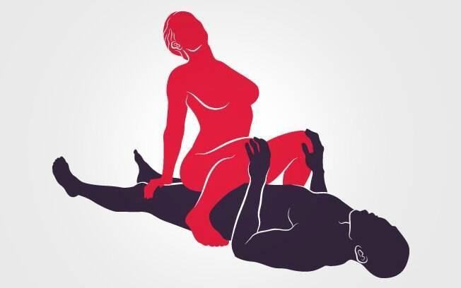 9. DOMINADORA: posição preferida por muitas mulheres, já que o controle delas é absoluto na busca pelo orgasmo