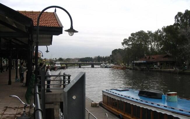 Vista de uma das margens do Delta do Tigre