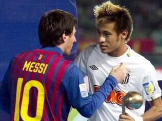 Neymar e Messi se enfrentaram na final do Mundial de Clubes, em 2011