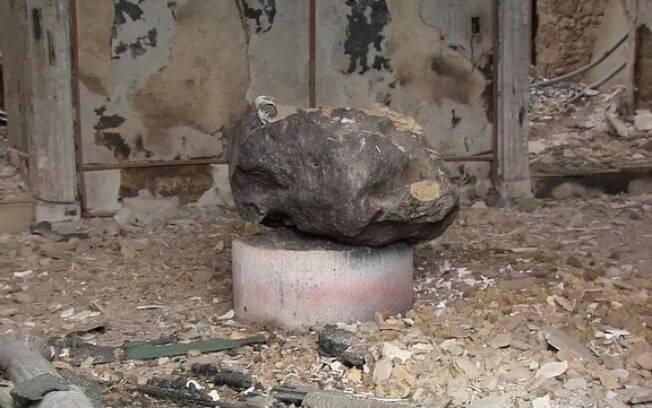 Meteorito Bendegó, de quatro bilhões de anos, foi encontrado em meio aos escombros de Museu Nacional do Rio de Janeiro