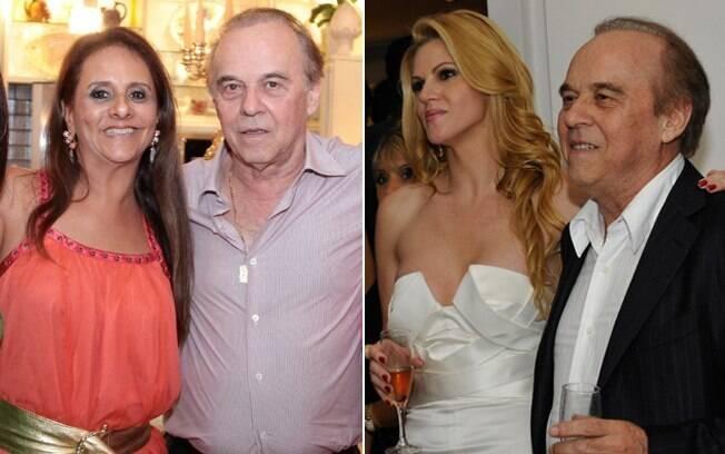 Evaldo Ulinski com a mulher, Nylcéia Ulinski, e com Val Marchiori