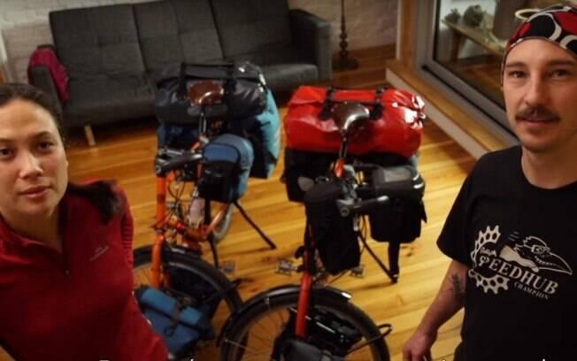 Casal viaja por seis meses de bicicleta pela América do Sul