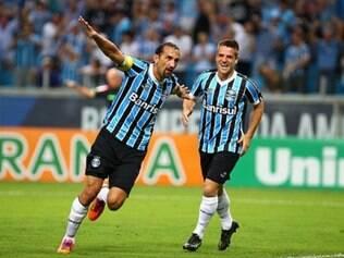 Barcos marcou o único gol da partida contra o Goiás, que também brigava por Libertadores