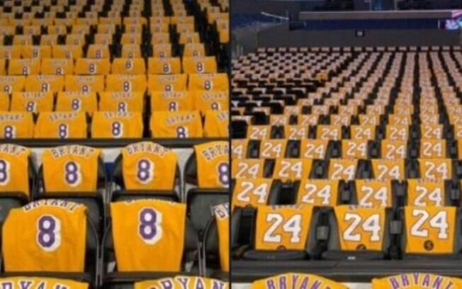Torcedores irão receber uma camisa de Kobe Bryant no jogo entre Lakers e Trail Blazers