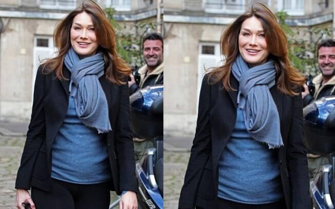 Barriguinha de Carla Bruni levantou suspeita de nova gravidez
