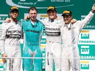 Massa chegou em terceiro no GP Brasil, seu segundo pódio no ano