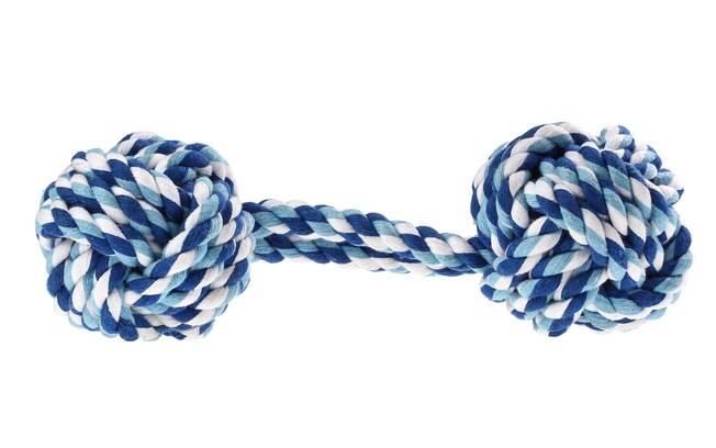 Tome cuidado com os fiapos dos brinquedos de corda, os cãezinhos podem ingeri-los