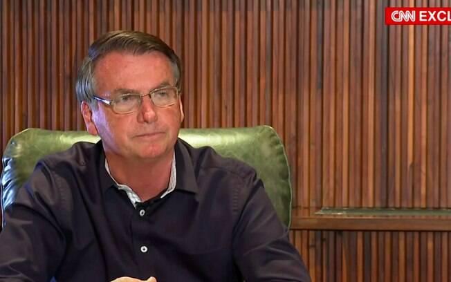 Presidente Jair Bolsonaro em entrevista à CNN Brasil
