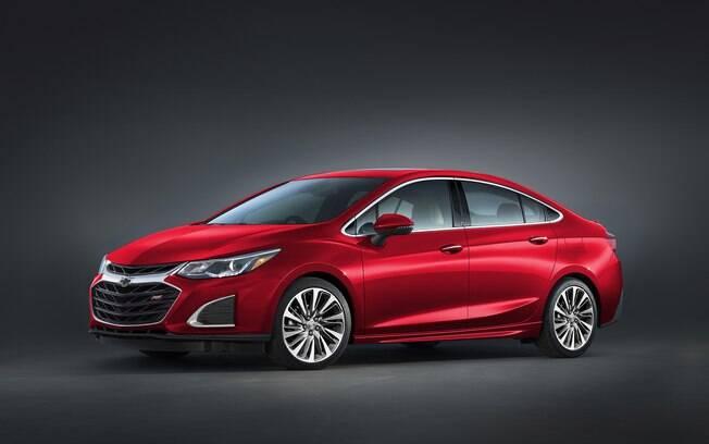 Chevrolet Cruze  2019: de diferente, apenas as rodas e insígnia na grade frontal. Deverá chegar ao Brasil no ano que vem