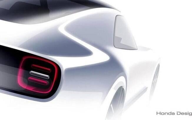 Honda Sports EV: desenho antecipa linhas do protótipo que será mostrado no Salão de Tóquio (Japão)