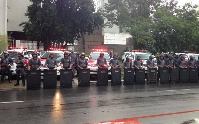 Policiais reunidos em manifestação do MPL na semana passada; SSP divulgou dados nesta sexta