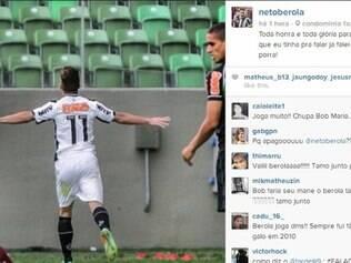 Pouco depois, Neto Berola publicou nova mensagem em sua conta no Instagram