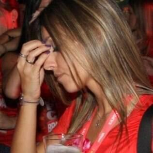 Cristiane Dias momentos depois da discussão