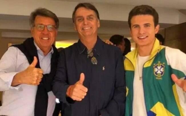 Marinho, à esquerda, foi apoiador de Bolsonaro durante a campanha de 2018