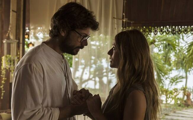 Professor (Álvaro Morte) e Raquel Murillo (Itziar Ituño) em