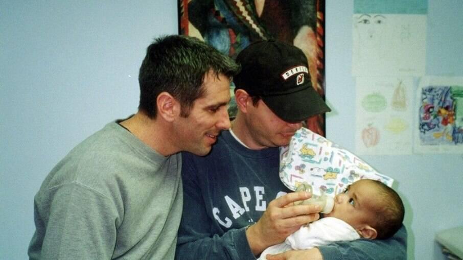 Danny, Pete e o bebê Kevin