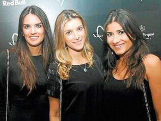 Trio maravilha. Thays Coutinho, Lorena Batista e Carolina de Castro