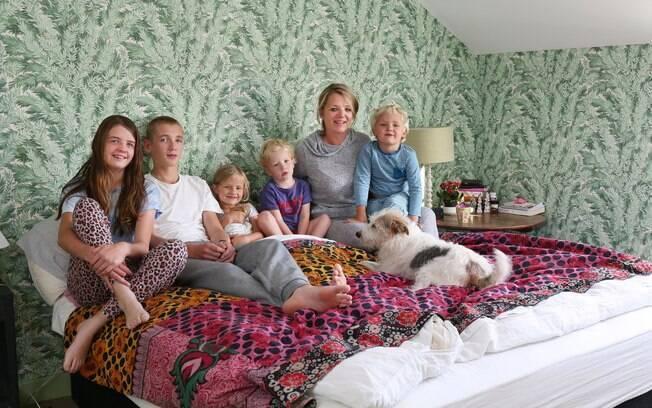 Clover Stroud, mãe de cinco, mudou sua rotina familiar durante a quarentena