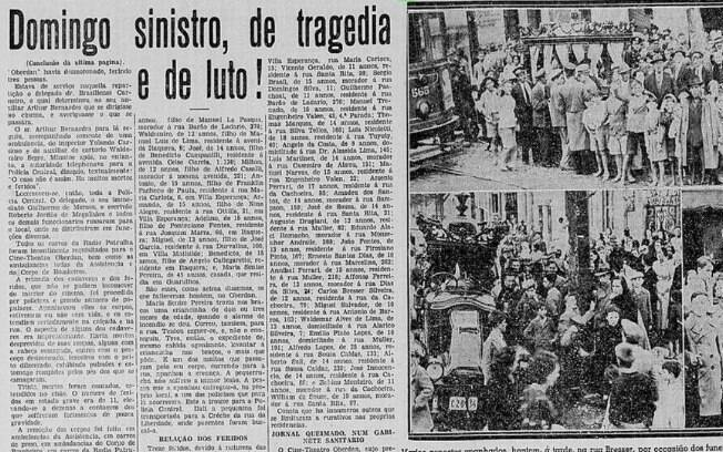 página de jornal antigo