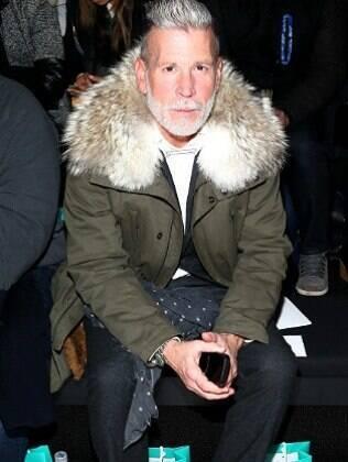 Nick Wooster durante o Mercedes-Benz Fashion Week Fall, em Nova York, em fevereiro deste ano