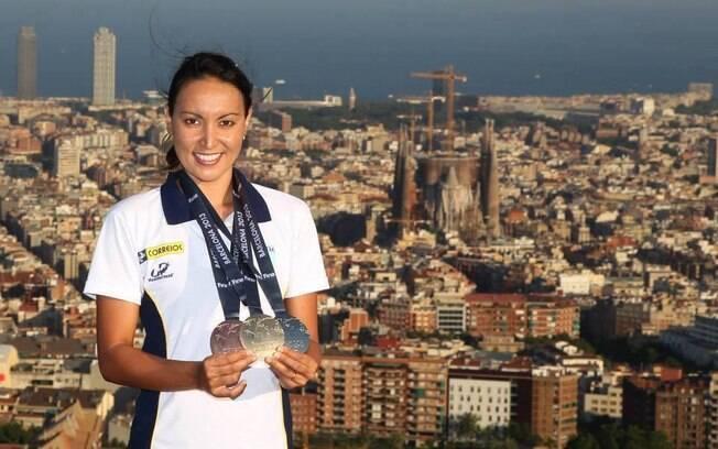 Poliana Okimoto: para tentar dar ao Brasil mais uma vaga olímpica na maratona aquática, optará por disputar o Mundial. Foto: Reprodução/Facebook
