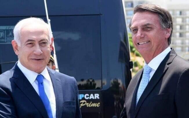 Bolsonaro posta foto com Benjamin Netanyahu e fala de acordo com Israel para envio de tropas a Brumadinho em suas redes sociais