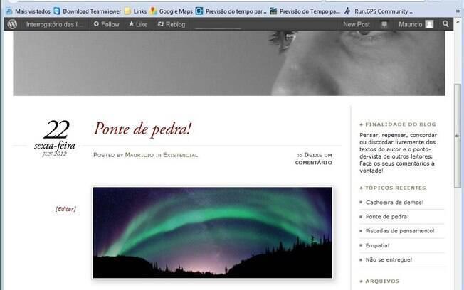 Wordpress permite criar blogs com visual sofisticado e boas ferramentas