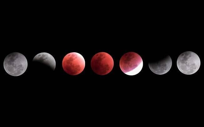 Eclipse 'Lua de Sangue' recebeu esse nome devido à cor avermelhada ocasionada por 'desvio' de cores durante processo