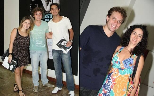 Na esquerda, Miguel Roncato e Miguel Rômulo. Na direita, João Velho e Claudia Ohana