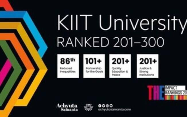 KIIT classificado em 201  globalmente no Times Higher Education Impact Rankings