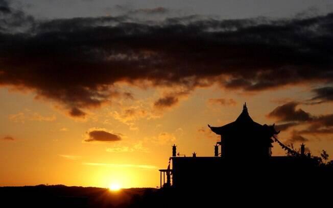 Paz e tranquilidade no fim de tarde em Khadro Ling, em Três Coroas. Foto: Eduardo Barcellos