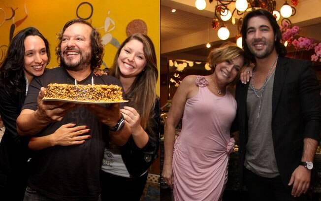 Wolf Maia com as filhas Maria e Manuela, e Susana Vieira com o namorado Sandro Pedroso