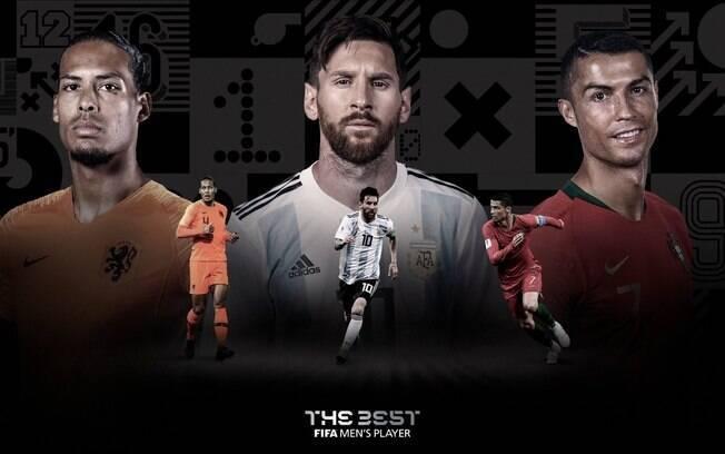 Van Dijk, Messi e Cristiano Ronaldo são finalistas para o prêmio de melhor do muno da Fifa